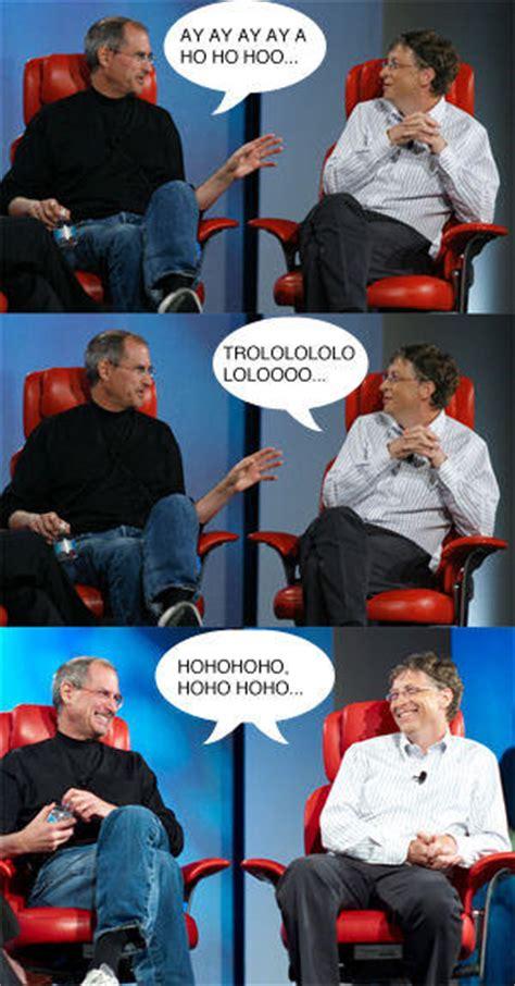 Steve Jobs And Bill Gates Meme - image 50550 steve jobs vs bill gates know your meme