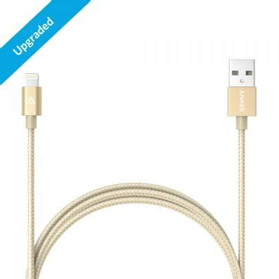 Anker A71146b1 Braided Lightning Certified 1 8m 6ft Gold wts anker chargers and cables top seller