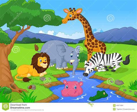 safari cartoon cartoon safari scene www pixshark com images galleries