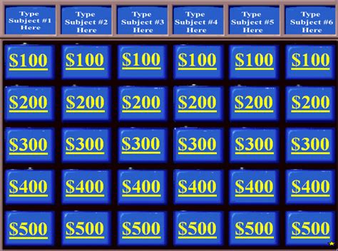 Jeopardy Templates With Sound Jeopardy Powerpoint Templates Powerpoint Templates