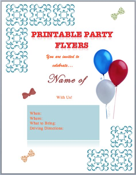 template flyer free party party flyer templates printable free flyer templates