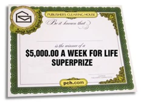Pch Check - with a big check for 5000 a week for life what would you do first pch blog