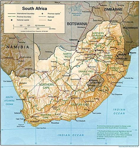 Map South Africa nationmaster maps of south africa 18 in total