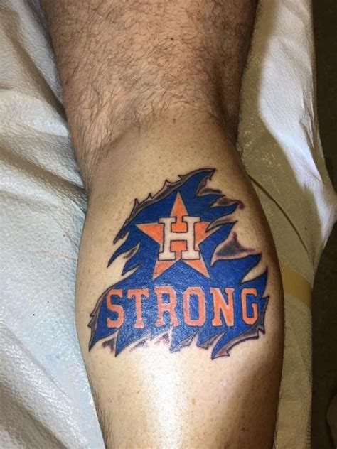 houston astros tattoo houstonians are showing for houston astros with
