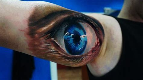 pictures of 3d tattoo designs eye 3d on biceps