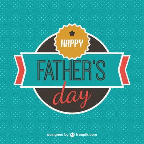 father s happy father s day badge background vector free download