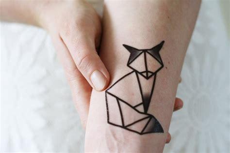 tattoo geometric fox geometric fox temporary tattoo tattoorary
