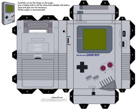 Nintendo Papercrafts - nintendo papercraft templates ds papercraft