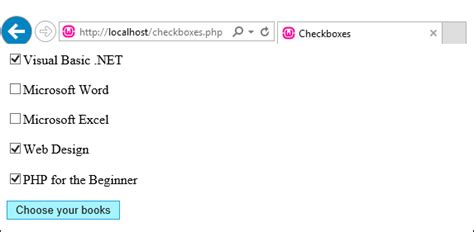 php tutorials checkboxes