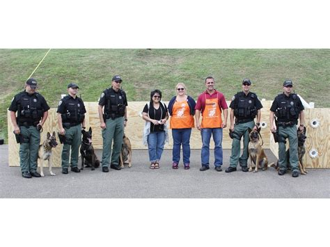 home depot donates scent wall to k 9 unit