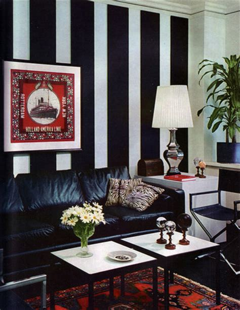 black and white striped living room vintage black and white striped chic eclectic living room other by flickr