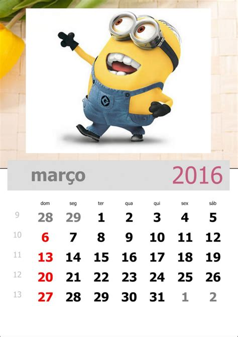 O M Calendario Arquivos Calend 225 2016 Para Imprimir Atividades Para A