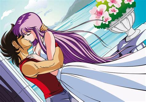 T Shirt Kaos Anime Seiya Team saori kido y seiya 15 seiya seiya and anime couples