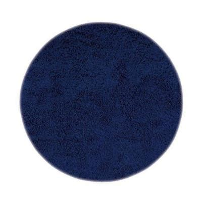 blue circular rug home decorators collection ultimate shag blue 8 ft area rug 7575493310 the home depot