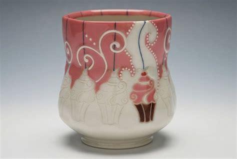 Keramik Bentuk Cupcake Besar Pink kristen kieffer new yunomi tea bowl cupcakes in pink white w navy detail ooak handmade