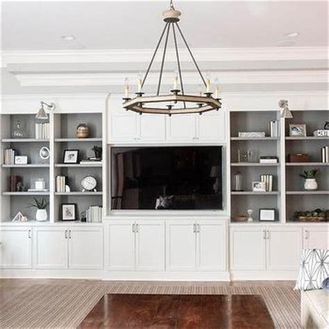 Living Room Cabinets And Shelves by Gray Shelves In White Living Room Built In Design Ideas