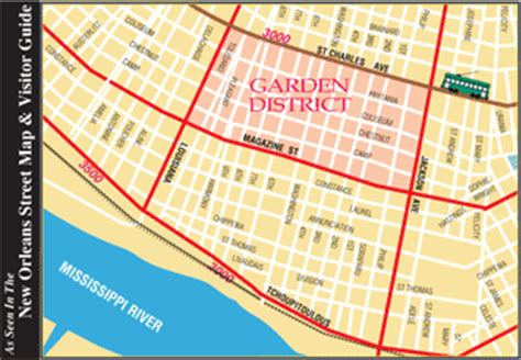 Garden District New Orleans Walking Tour Map by New Orleans Marketwatch New Orleans Maps And