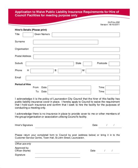 liability waiver form template 11 liability waiver form templates pdf doc free
