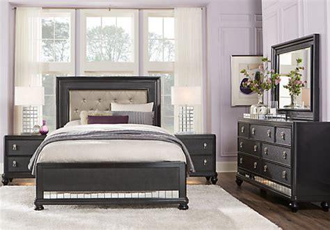 7 pc bedroom set paris black 7 pc king bedroom panel contemporary