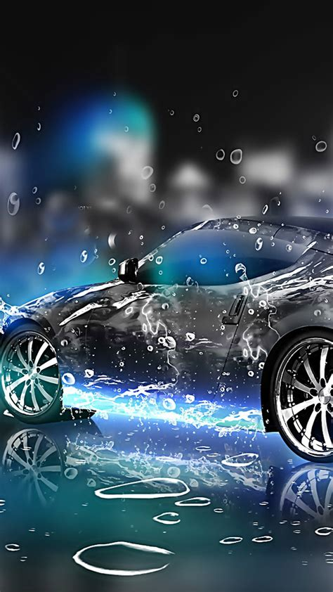 Live Car Wallpaper For Pc by 3d Car Water Galaxy S6 Wallpaper 1440x2560