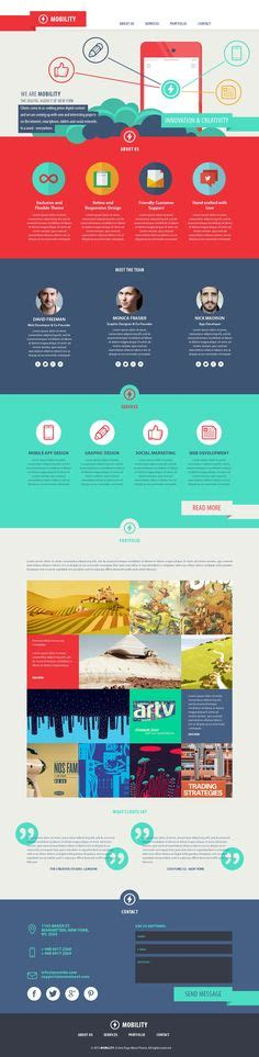 themeforest koncept 1000 images about one page style on pinterest wordpress