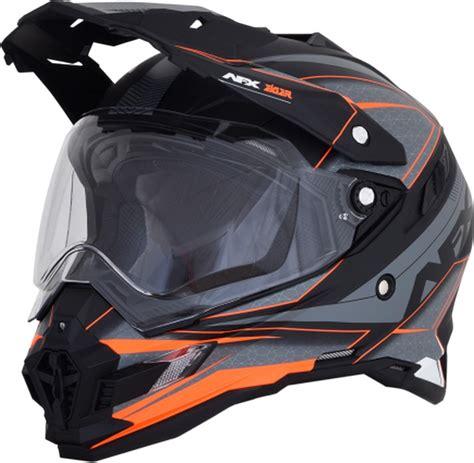 Helm Eiger afx fx 41ds dual sport eiger helmet gray orange