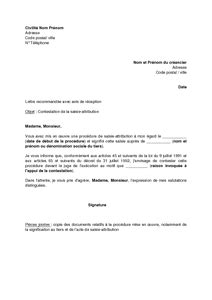 Modele Lettre Contestation Saisie Attribution Juge De L Exécution lettre de contestation de la saisie attribution par le