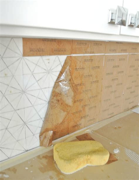 Glass Tile Installation Kitchen Remodel 10 Lessons Centsational Style