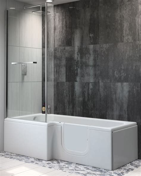 easy access shower bath sabre easy access shower bath only 163 1670 from practical