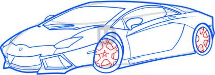 Steps To Draw A Lamborghini How To Draw A Lamborghini Aventador Lamborghini Aventador