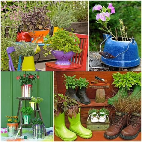Backyard Planters Ideas by 15 Creative Recycled Planter Ideas For Your Garden