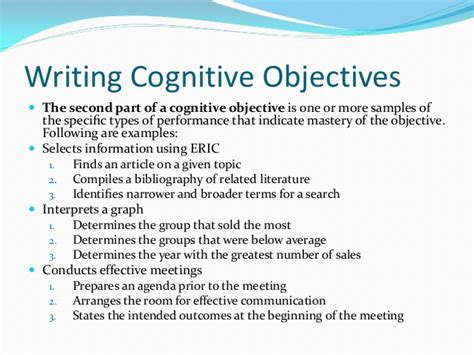 writing objectives 2013