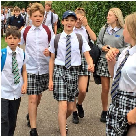 Were The Same But One Wears A Skirt by Schoolboys Were Denied To Wear Shorts At School