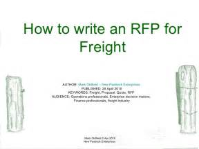freight forwarder quote template how to write an rfp for freight