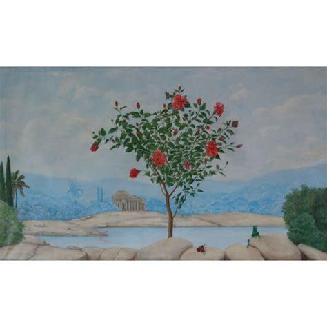 Peinture Trompe L Oeil by Peinture Murale Trompe L Oeil Hibiscus