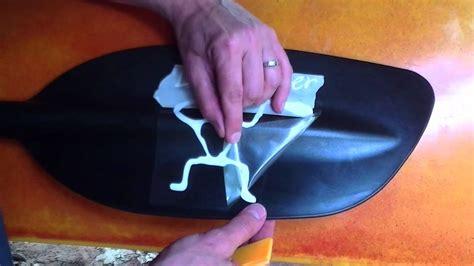 installing  kanuyakcom decal   kayak  canoe paddle youtube