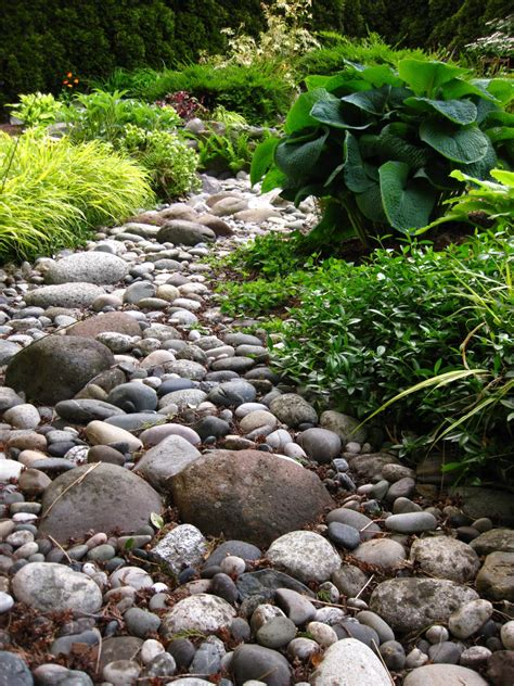 Pebbles And Rocks Garden River Rock On Pinterest River Rocks River Rock Landscaping And River Rock Gardens