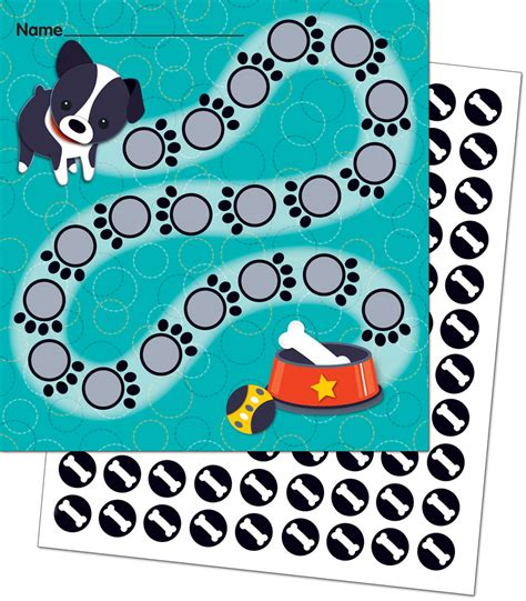 dogs mini incentive charts  stickers teachers bazaar
