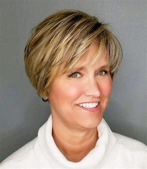 short bouncy bobs gt 60 yr old women images 90 classy and simple short hairstyles for women over 50