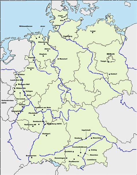 map of us bases in germany us air bases in germany traffic school