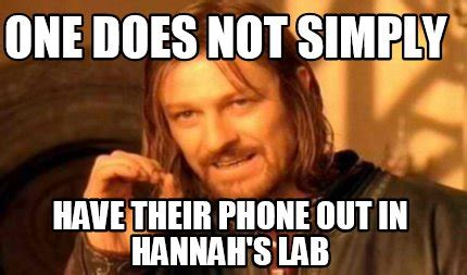 Hannah Meme - meme creator one does not simply have their phone out in