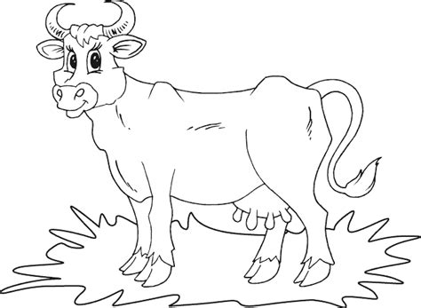 Simple Cow Coloring Page | simple cow coloring page coloring com