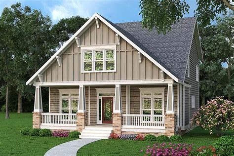 comfortable craftsman bungalow 75515gb architectural