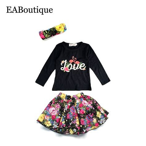 Flamingo Longsleeve Shirt 1 eaboutique winter fashion floral flamingo pattern baby clothes set sleeve shirt with