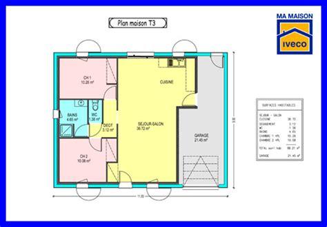 t3 combien de chambre constructeurvendee 187 plans de maisons