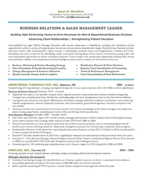 sales and marketing manager resume sle for
