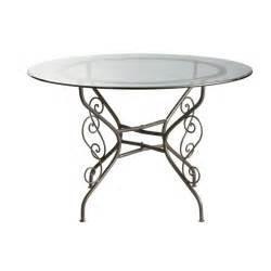 table ronde de salle 224 manger en verre et fer forg 233 d 120