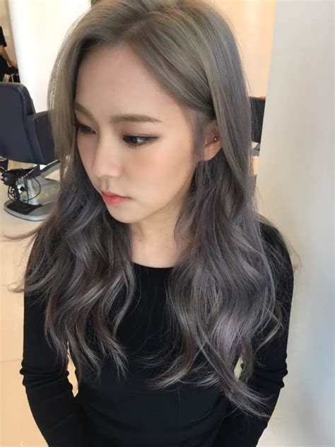 ash brown hair color the new fall winter 2017 hair color trend kpop korean