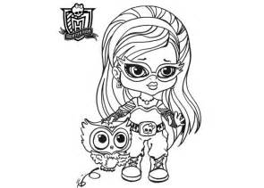 baby monster high coloring pages baby ghoulia yelps