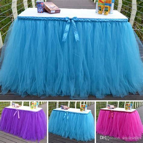 diy tulle tutu table skirt for wedding decoration event